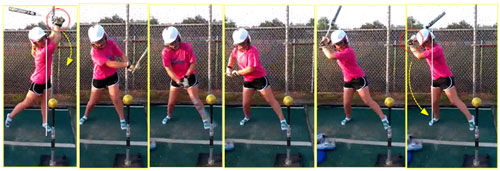 swing in softball hitting