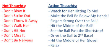 eliminate not thoughts action players brain not to do player coach