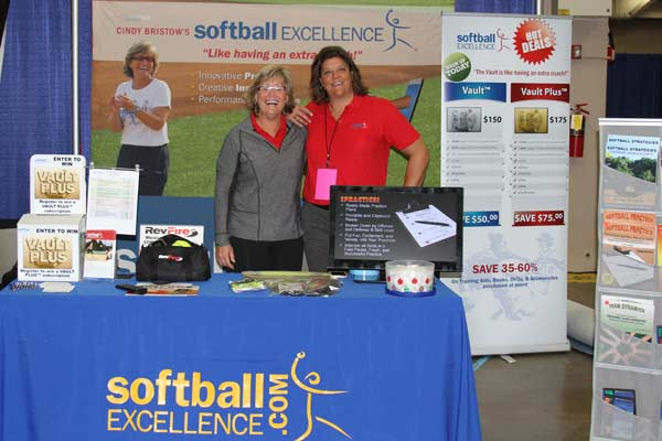 NFCA 2013 Convention San Antonio TX - Softball Excellence Booth - Cindy and Robin