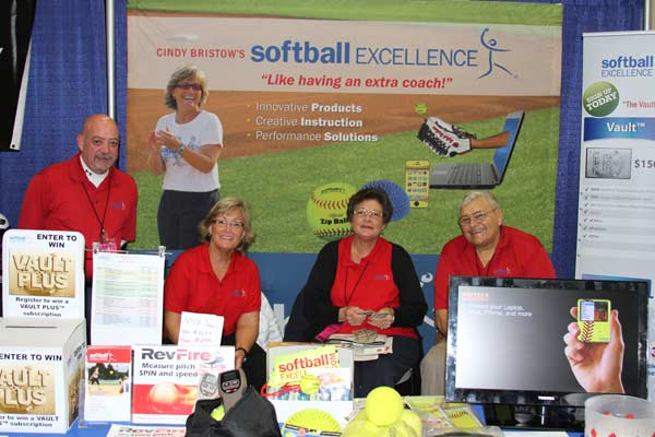 NFCA 2013 Convention San Antonio TX - Hard Working Softball Excellence Booth Crew