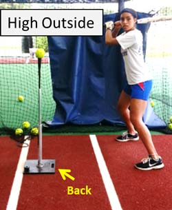 high outside batting t tee drill plate coverage hitter hitting