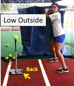 low outside t drill improve plate coverage hitter hitting