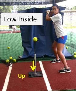 low inside batting tee t drill plate coverage hitter hitting