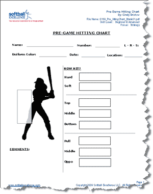 pre game hitting chart scout