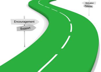 hard horrible road losing encouragement support motivation practice