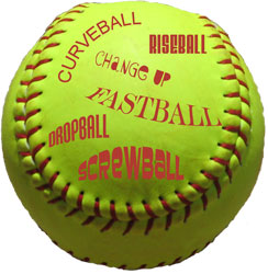 ball pitch order release change up riseball dropball curveball screwball