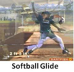 softball glide length dartfish pitching fastpitch