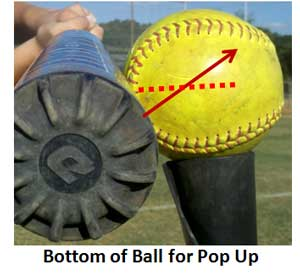 hitting hit hitter power half inch bottom ball pop up
