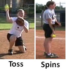 pitch pitcher pitching no stride toss spins