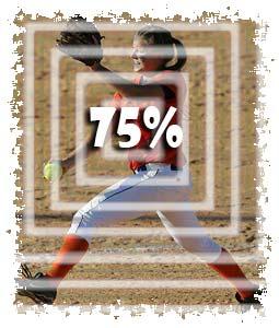 pitcher 75 percent pitch throw strike