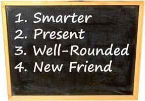4 ways make school better smarter present well rounded friend