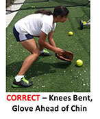 Drill Infielders Bend Knees Ball Down Under Straight Glove Chin Bent Correct
