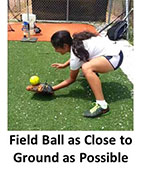 Drill Infielders Bend Knees Ball Down Under Straight Glove Chin Bent Low Ground Field