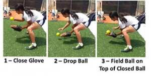 Drill Infielders Bend Knees Ball Down Under Straight Glove Chin Bent Correct Self Bounce Series