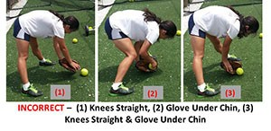 Drill Infielders Bend Knees Ball Down Under Straight Glove Chin Bent Incorrect
