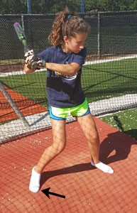 hitting hit hitter better rid shoes struggle feet load socks big toes back foot younger players fastpitch