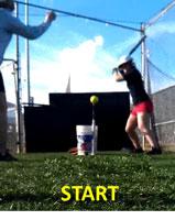 timing drill batting t tee teaching tool hitter hitters mechanics practice patience start