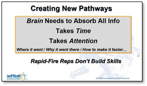 creating new pathways brain absorb muscle memory time attention repetition reps rapid-fire