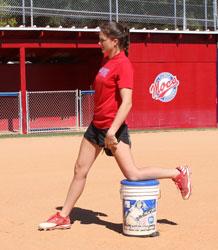 improve riseball rise ball spin bucket stride stronger firmer straighter front leg