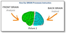 3 downsides focusing mechanics brain processes instruction front back analysis instinct