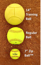 3 ball drill pitcher movement different sized regular zip 14""