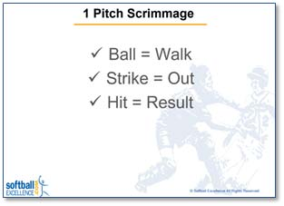 one 1 pitch scrimmage pitcher pitching 5 things best teach