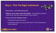 LSU Beth Torina Pick Right Individuals