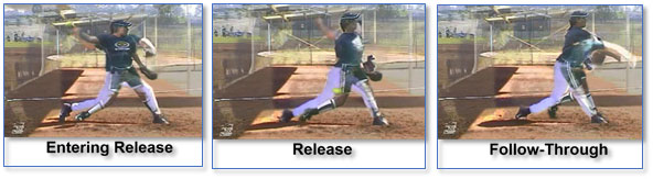 overhand underhand baseball softball pitching entering release follow through