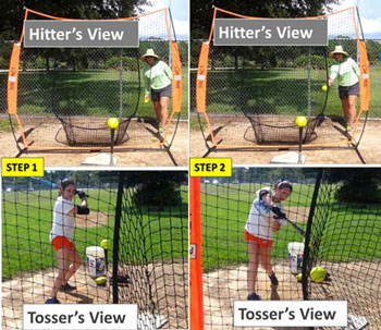 hitter timing t tee drill protective screen