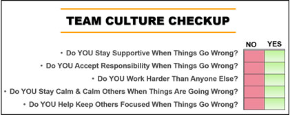 team culture win strong checkup support responsible calm focus