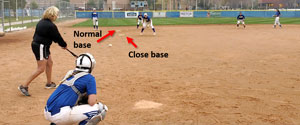 double base ball drill speed team close base