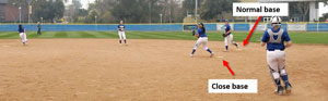 double base ball infield drill close normal base speed teams