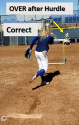 riseball hurdle drill help pitchers after correct
