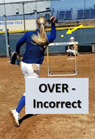 riseball hurdle drill help pitchers over incorrect