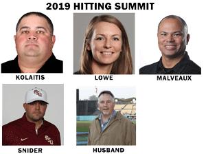 2019 hitting summit speakers kolaitis lowe malveaux snider husband learn experience college coaches