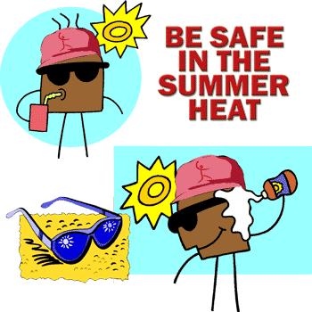 Summer Heat Beat Softball Drink Water Wear Sunscreen Eat Hydrated